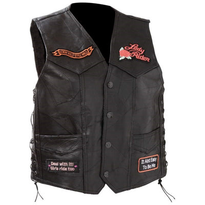 Jillian Lady Rider Leather Vest