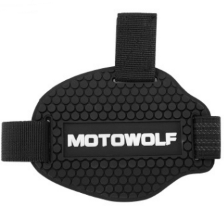 Motowolf Gear Shift Shoe Pad, TPU Soft Rubber, Black - American Legend Rider