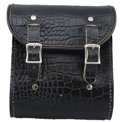 La Rosa Universal Emboss Leather Sissy Bag