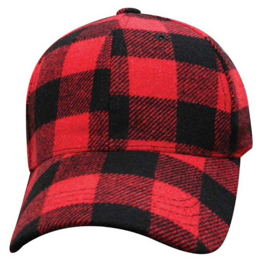 Daniel Smart Buffalo Plaid Hat, Red/Black