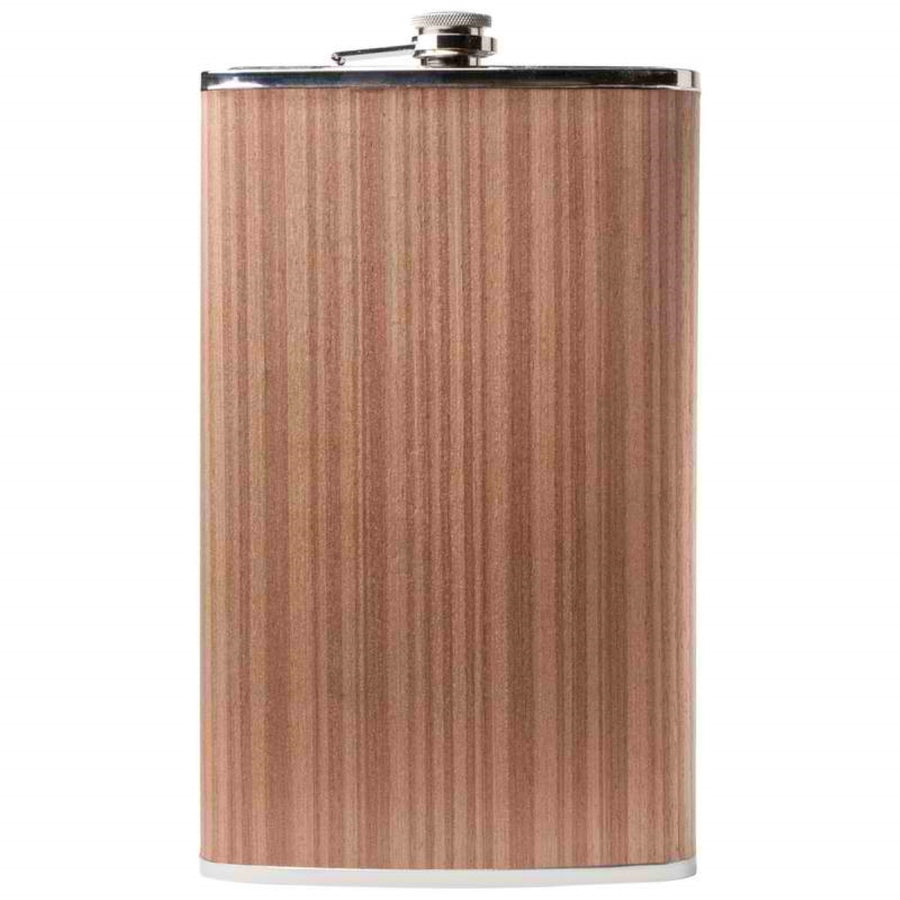 Jillian 64oz. Stainless Steel Flask with Wood Wrap