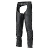 Vance Leather Zip-Out Insulated Pant Style Zipper Pocket Leather Chaps, Unisex
