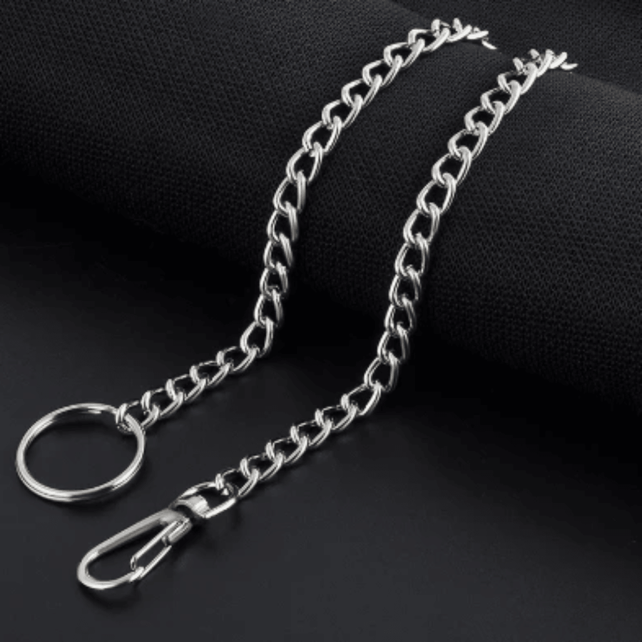 Men's Wallet Keychain String, Stainless Steel