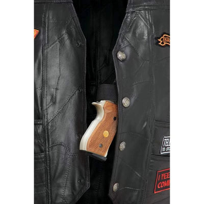 Jillian Concealed Carry Biker Vest with 16 Patches