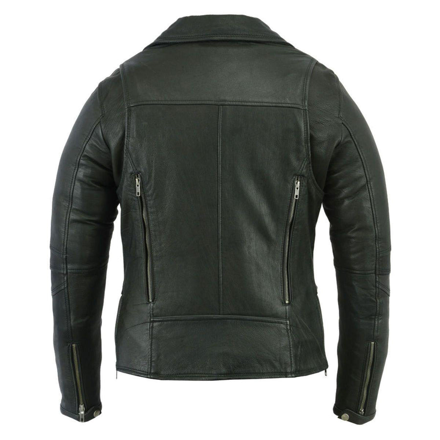 Daniel Smart Modern Longer Beltless Biker Leather Jacket