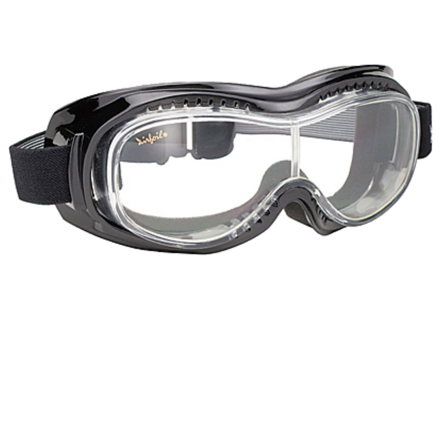 Daniel Smart Airfoil Goggle, Black/Clear Lens