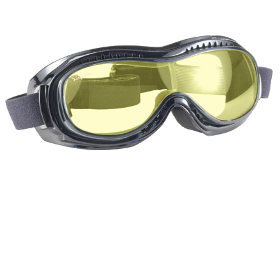 Daniel Smart Airfoil Goggle, Black/Yellow Lens