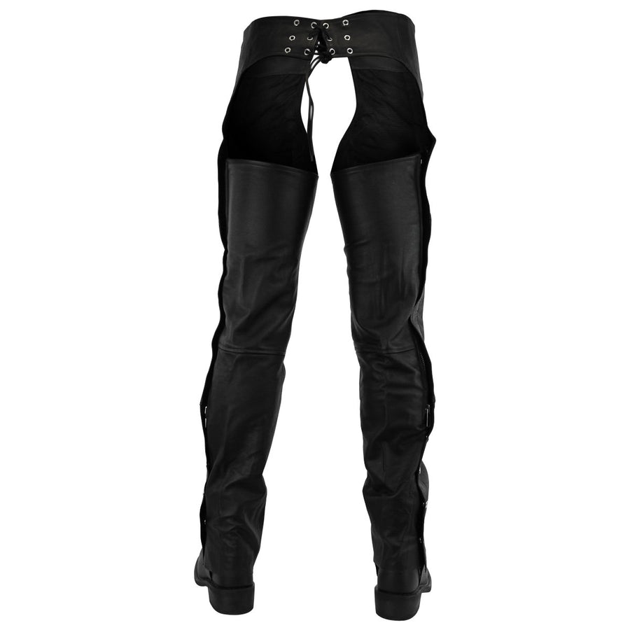 Vance Premium Cowhide Deep Pocket Leather Chaps