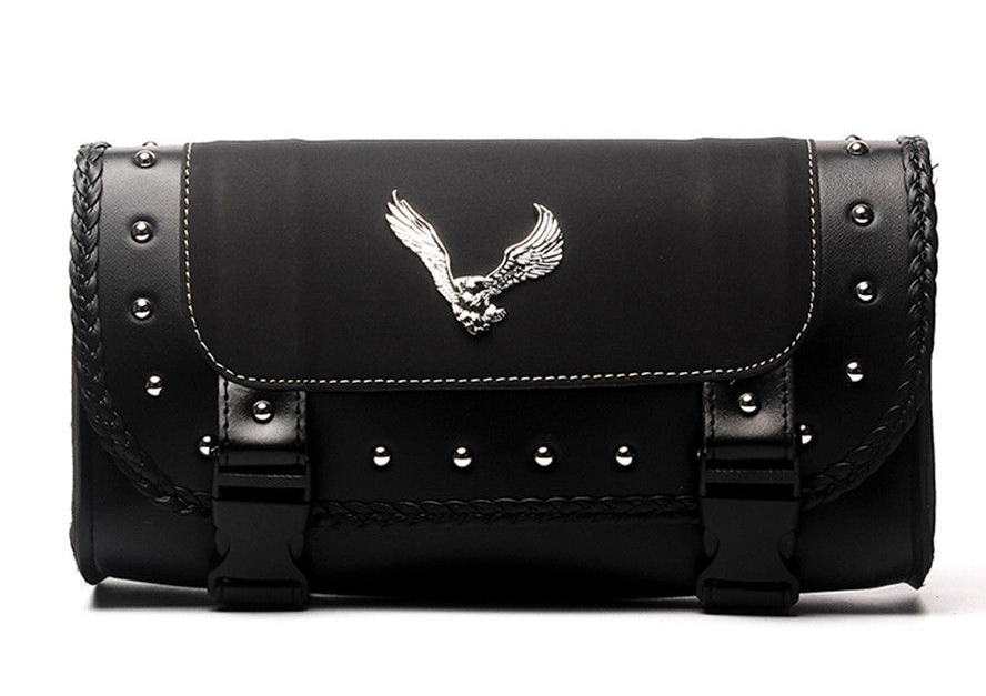 Motorcycle Eagle Emblem Saddle Bag - American Legend Rider