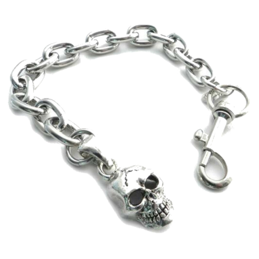 Daniel Smart Skull Pendant on Link Chain Bracelet