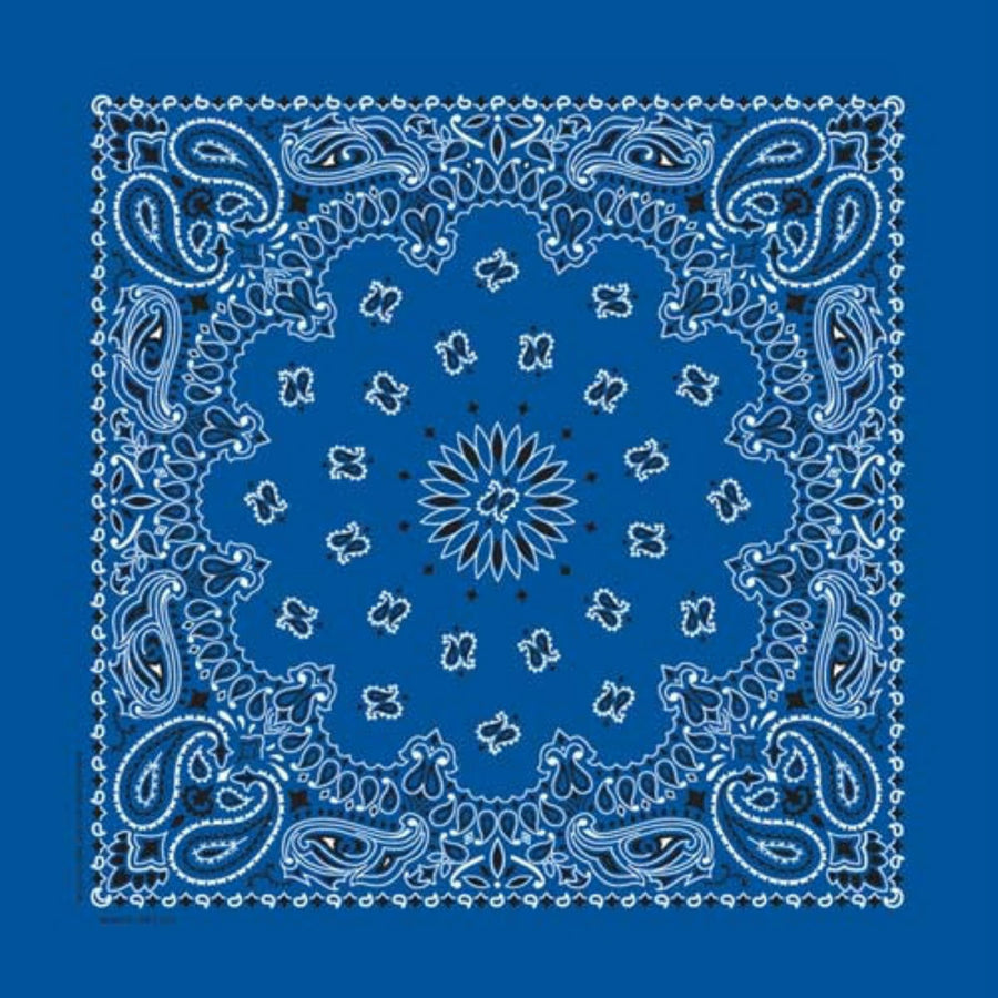Daniel Smart Bandana Paisley,Unisex,Royal Blue