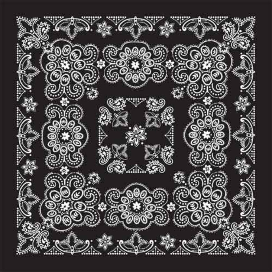 "Daniel Smart Bandana Texas Paisley, Black, 27"" x 27"""