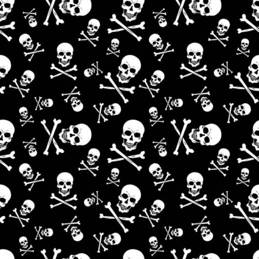 Daniel Smart Bandana Skull and Crossbones, Black/White