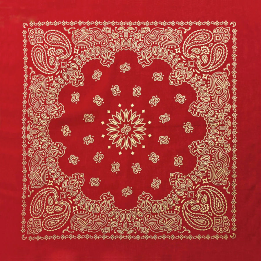 Daniel Smart Bandana Paisley,Unisex,Red Metallic