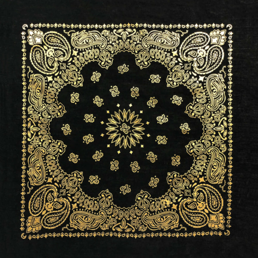 Daniel Smart Bandana Paisley, Black/Gold/Metallic