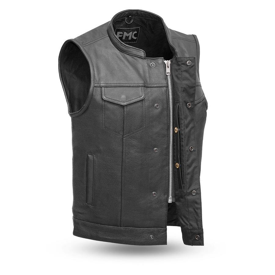 First Manufacturing Blaster Motorcycle Leather Vest - American Legend Rider