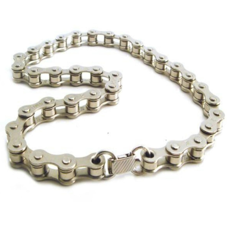 Daniel Smart Bike Chain Choker, Nickel-Plated Steel, 18 inch