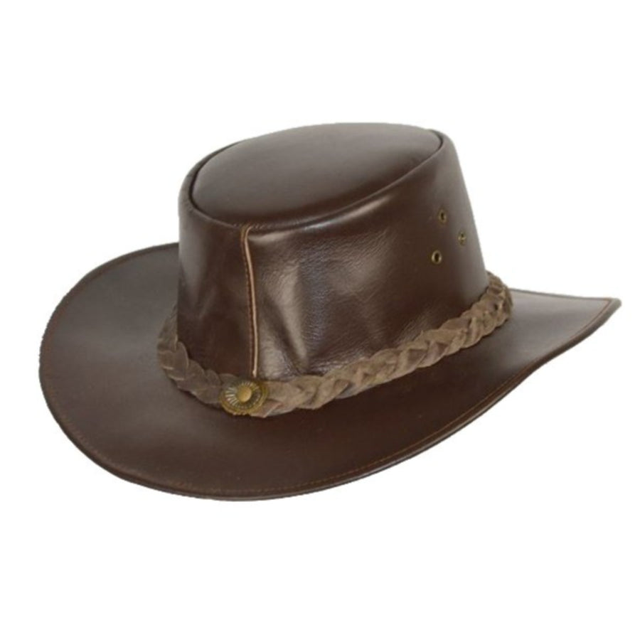 Vance Leather Bush Walker Outback Leather Hat