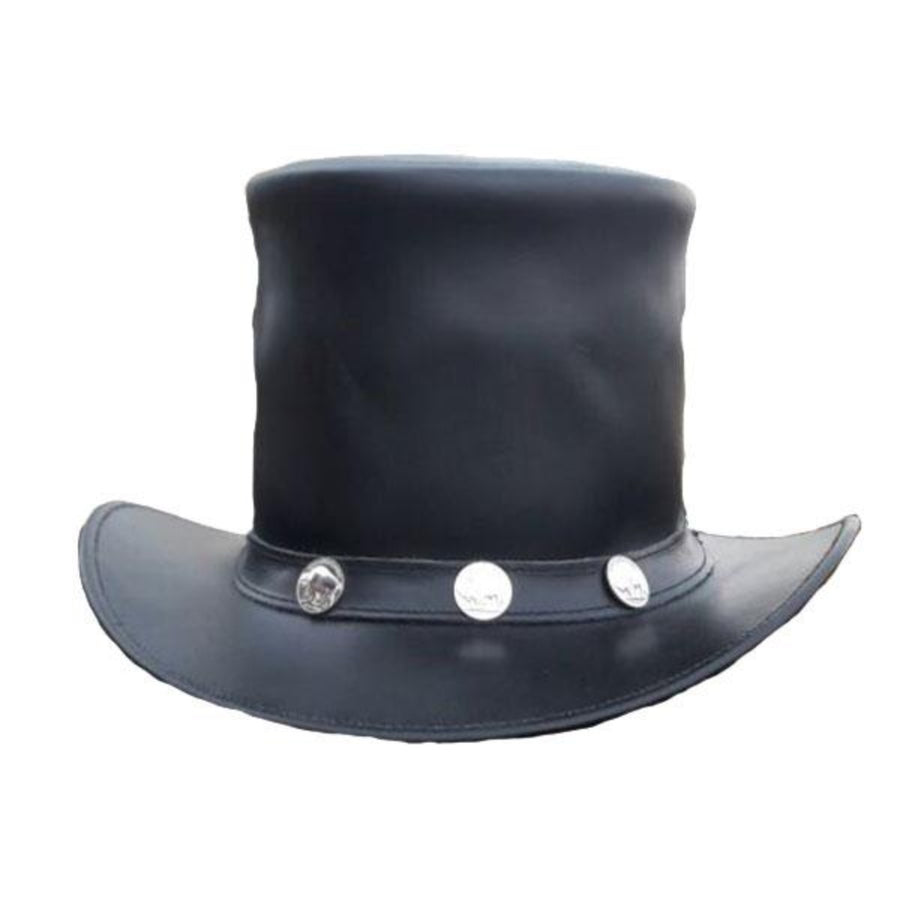 Vance Leather Black Diamond Buffalo Nickel Top Hat