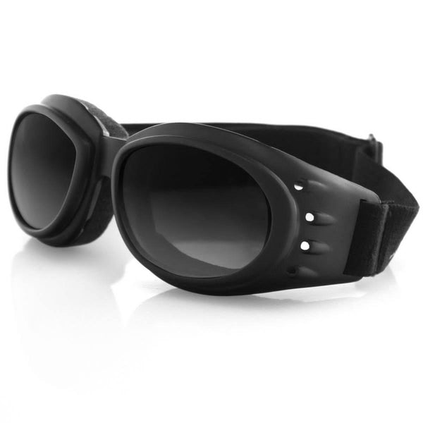 Bobster Cruiser 2 Interchangeable Riding Goggles, Rubber Black Matte Frame, 3 Polycarbonate Lenses: Amber, Clear, Smoke
