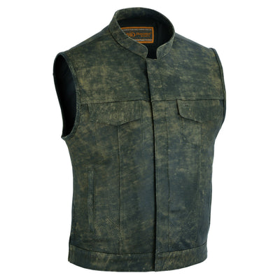 Daniel Smart Men's Conceal Carry Antique Brown Vest