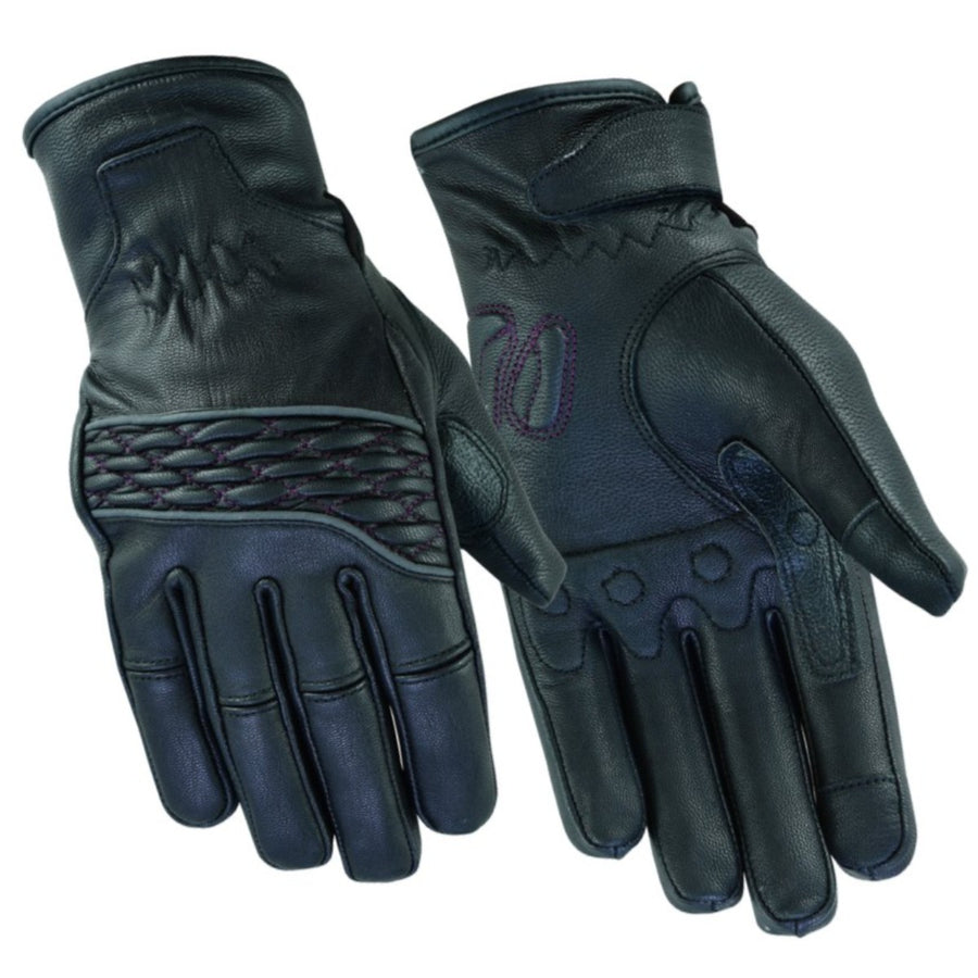 Daniel Smart Women's Cruiser Gloves, Black/Purple