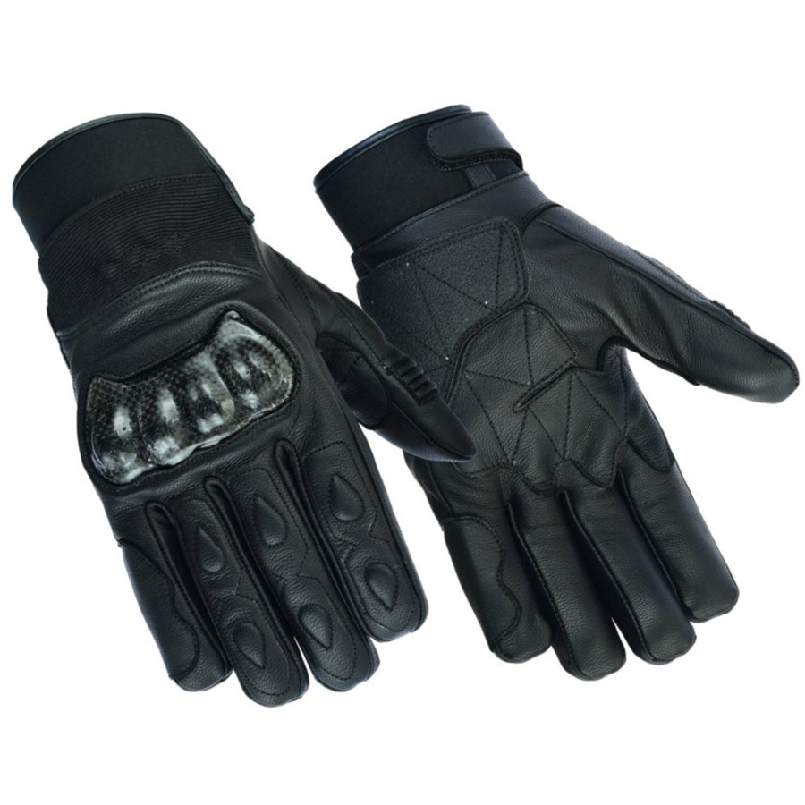 Daniel Smart Men's Leather/Textile Performance Gloves, Black
