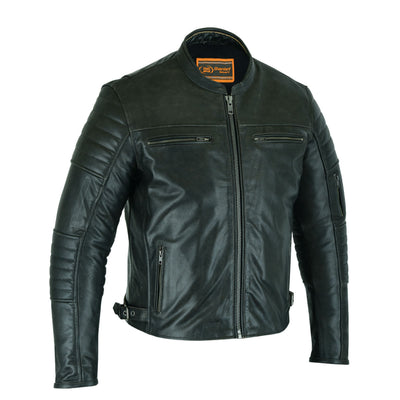 Daniel Smart Men's Lightweight Drum Dyed Naked Lambskin Scooter Jacket