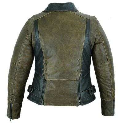 Daniel Smart Must Ride Motorcycle Leather Jacket Two Tone