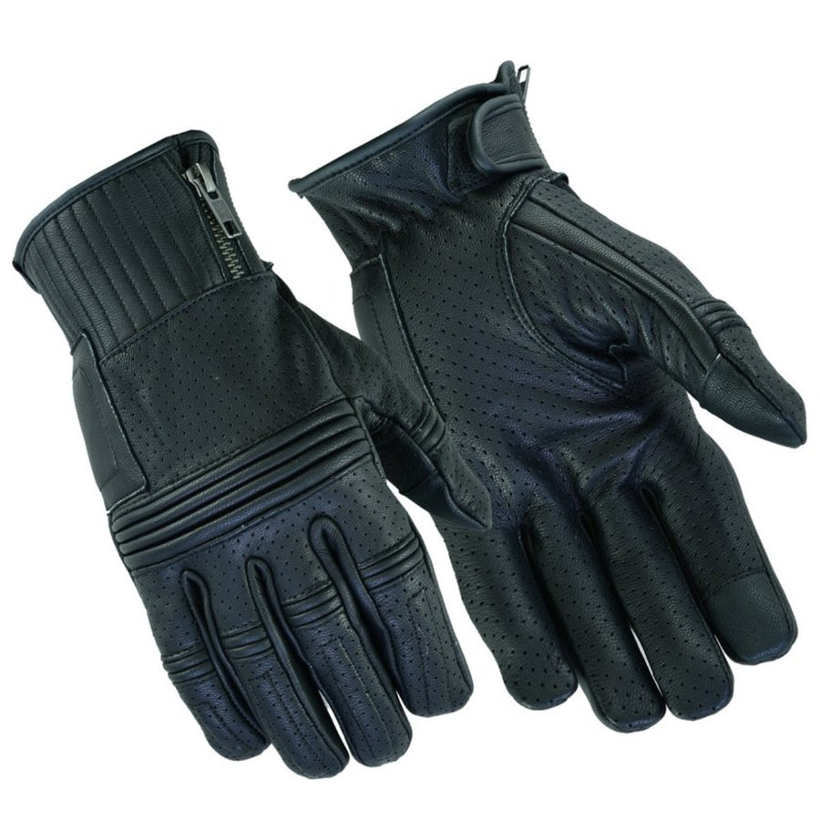 Daniel Smart Men's Premium Perforated Operator Gloves, Black