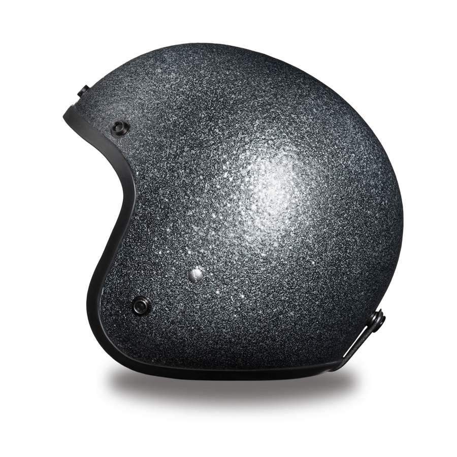 D.O.T Daytona Cruiser Gun Metal Flake Motorcycle Open Face Helmet, Unisex, XS-2XL, Dark Gray