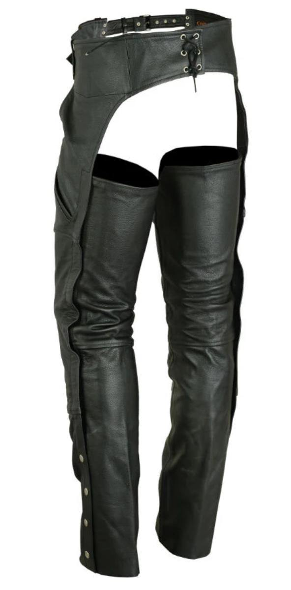 Daniel Smart Dual Deep Pocket Leather Chaps