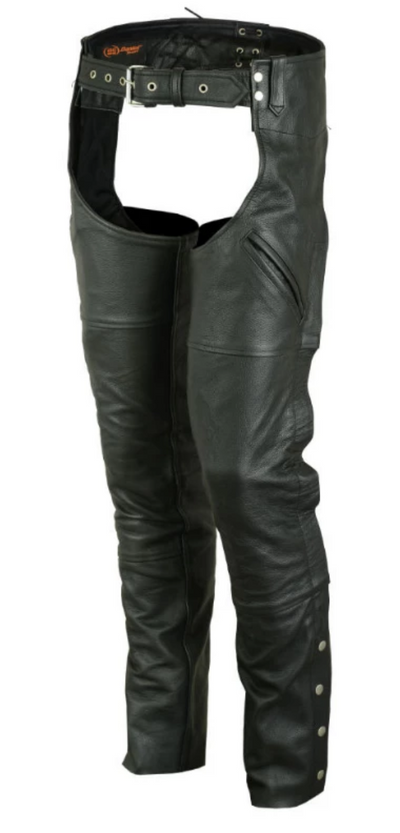 Daniel Smart Dual Deep Pocket Leather Chaps - American Legend Rider