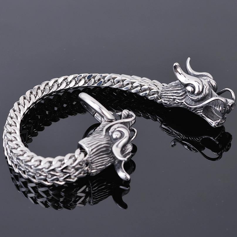 Double Dragon Head Bracelet - American Legend Rider