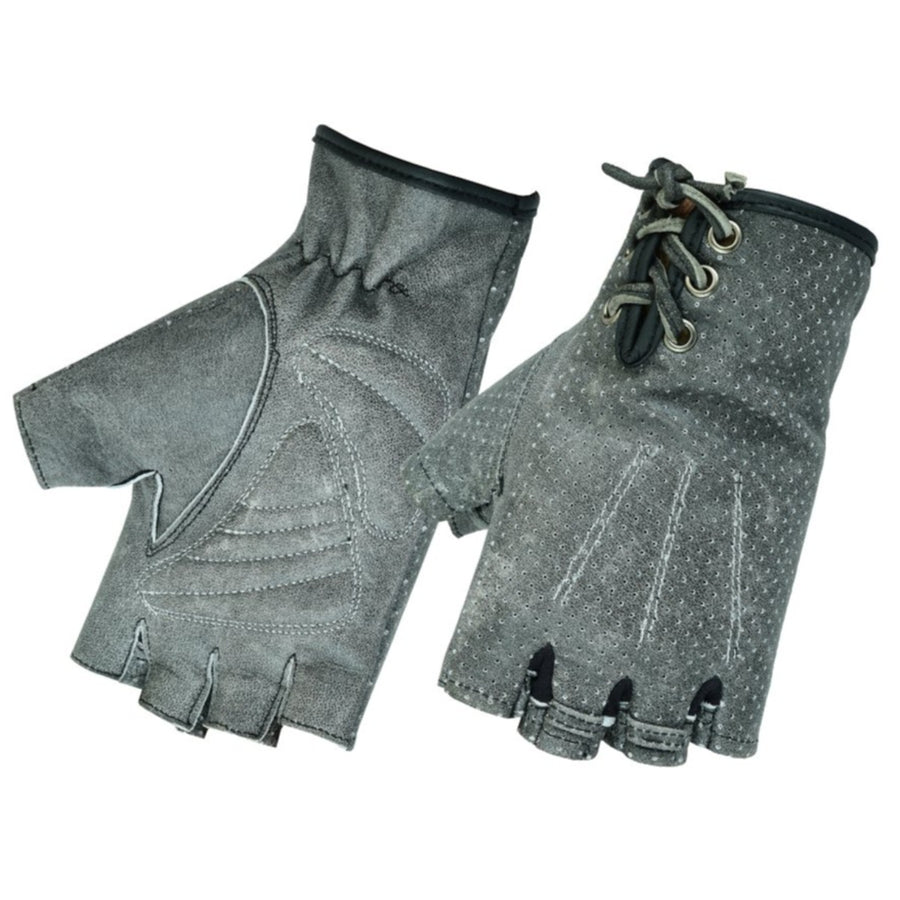 Daniel Smart Women's Perforated Fingerless Gloves, Washed-Out Gray