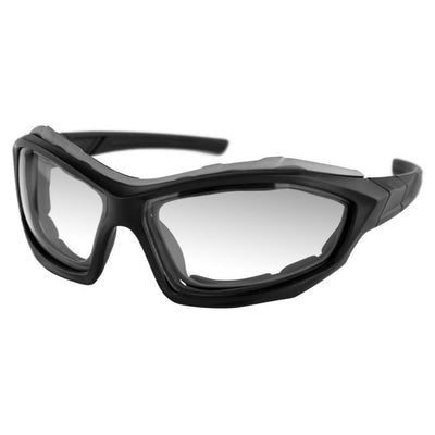 Bobster Dusk Convertible Sunglasses, Polycarbonate, OS, Matte Black Frame, Anti-fog Clear Lenses