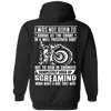 I Was Not Born To Arrive At The Grave In A Well Preserved Body Hoodie, Unisex, Cotton/Polyester, Black w/ White Print