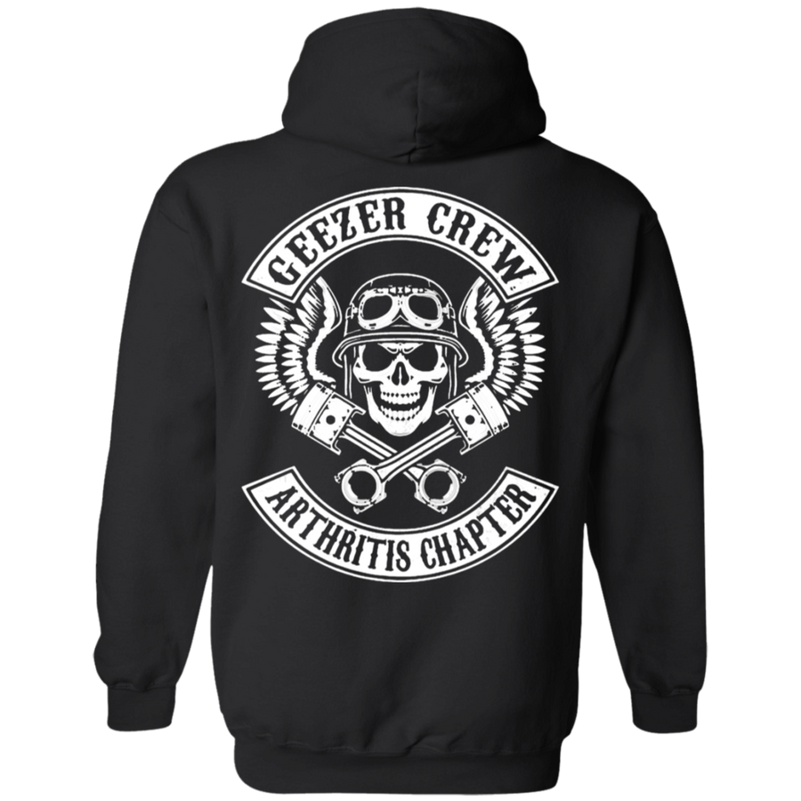 Geezer Crew Arthritis Chapter Hoodie, Cotton, Black