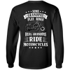 Some Grandpas Play Bingo, Real Grandpas Ride Motorcycles Long Sleeve T-Shirt, Cotton, Black