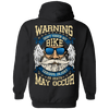 Warning: Don't Touch My Bike Hoodie