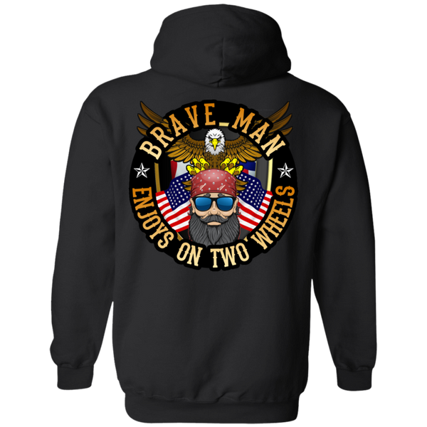 Enjoys on Two Wheels Hoodie
