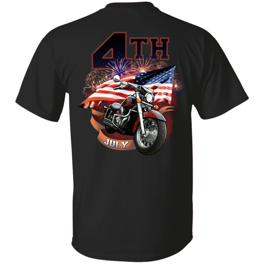 4th of July T-Shirt, Cotton, Black