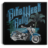 Bike Week Rally Square Canvas Frame .75in