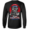 I Am Free, I Am One, I Am Proud American Legendary Rider Long Sleeve T-Shirt, Unisex, Cotton, Black