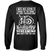 I Was Not Born To Arrive At The Grave In A Well Preserved Body Long Sleeve T-Shirt, Unisex, Cotton, Black w/ White Print