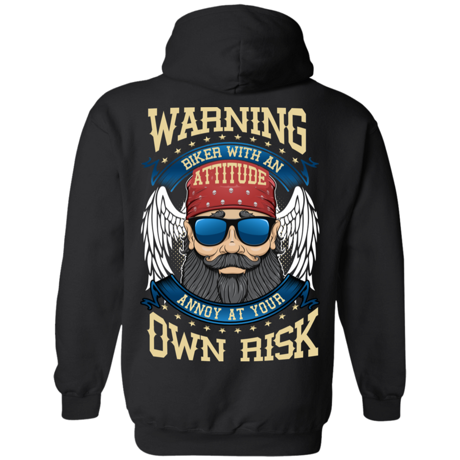 Biker With An Attitude Hoodie