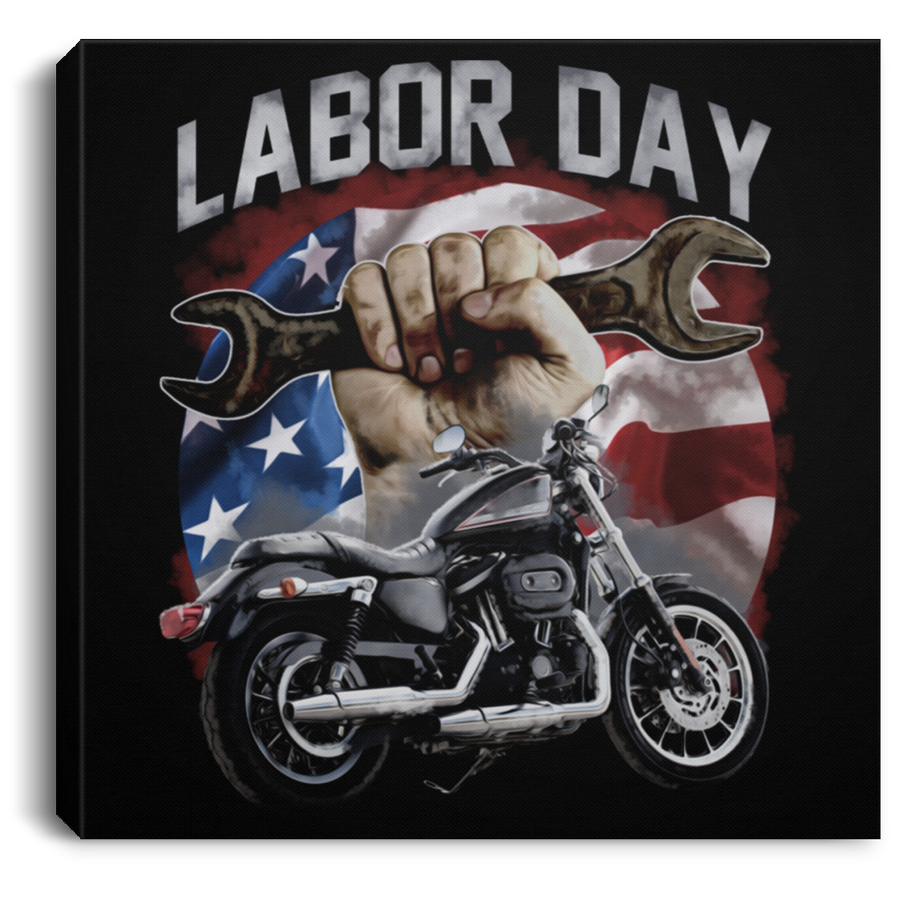 Labor Day Square Canvas Frame .75in