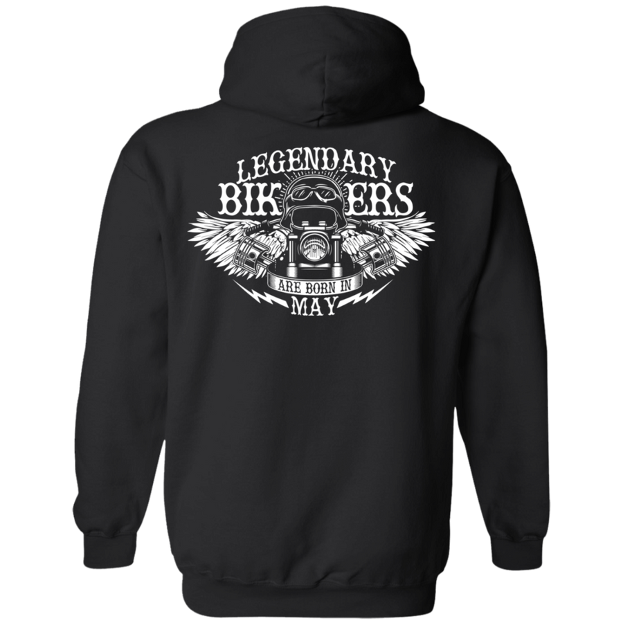 Legendary Bikers Are Born in May Hoodie
