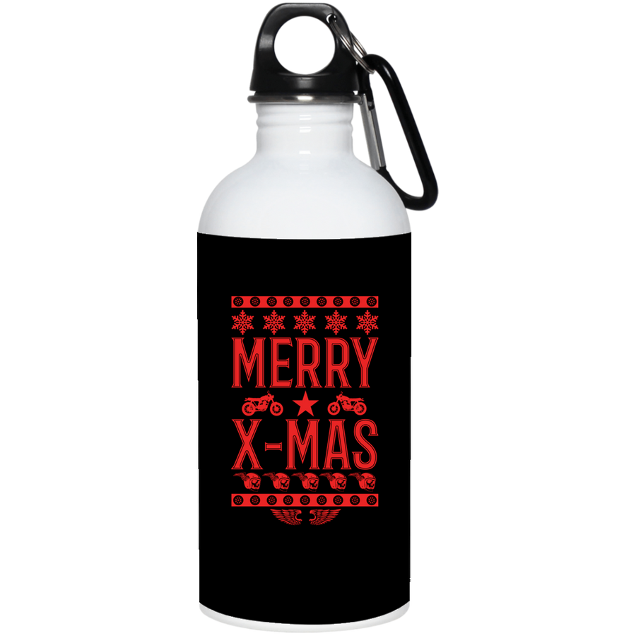 Merry X-Mas Stainless Steel Water Bottle 20 oz.