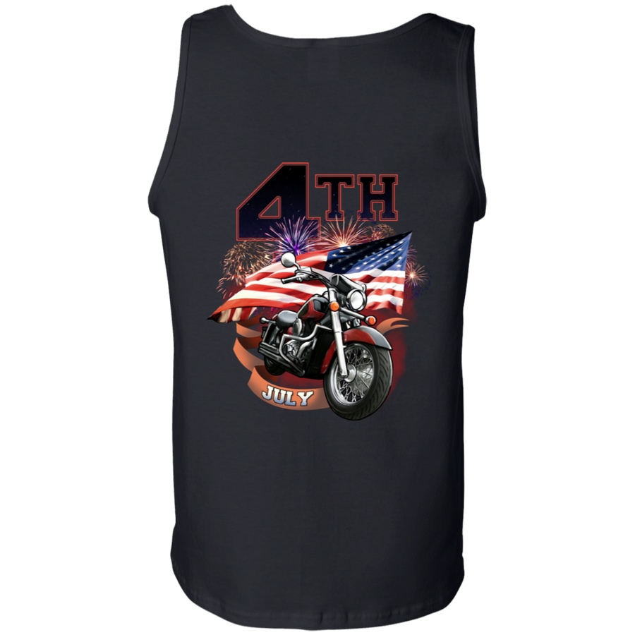 4th of July Tank Top, Cotton, Black